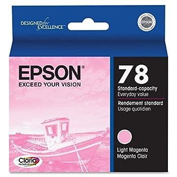 Epson T078620 OEM Ink -  78  Stylus Photo R260/R280/R380/RX580/RX595/RX680 Artisan 50 Claria Hi-Definition Light Magenta Ink  52