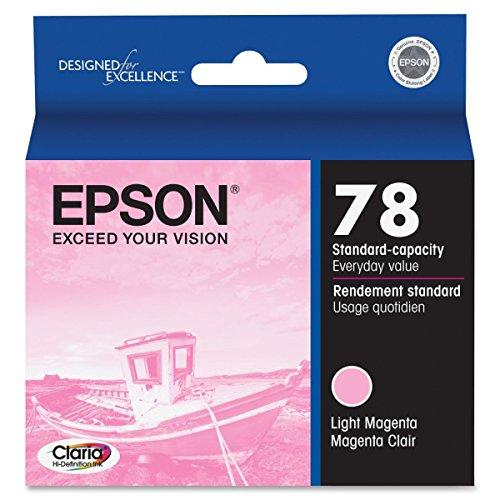 Epson T078620 OEM Ink - (78) Stylus Photo R260/R280/R380/RX580/RX595/RX680 Artisan 50 Claria Hi-Definition Light Magenta Ink (52