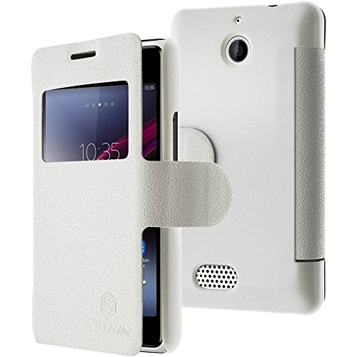 NILLKIN Fresh - Funda de Piel Tipo Libro para Sony Xperia E1 D2105, Compatible con Sony Xperia E1