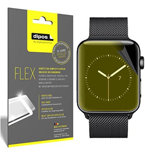 dipos I 3X beschermfolie 100% compatibel met Apple Watch Series 3 42mm folie (volledige schermafdekking) displaybeschermfolie