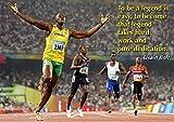 Usain Bolt Sprinter Olympiasieger Bunt Motivationsposter -