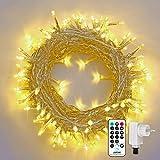 Qedertek Catena Luminosa, Cavo trasparente, Luci Stringa 23 Metri 200 LED,...