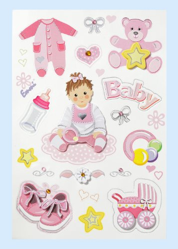 Creapop Sticker * Baby Girl - Taufe - Geburt * Aufkleber