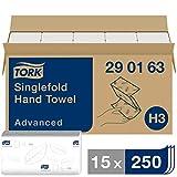Tork 290163 Toallas de mano de papel Tork Advanced plegadas en V / Toallitas...