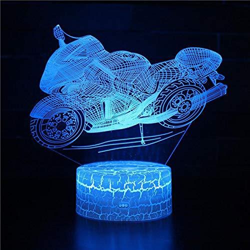 Acryl Retro Motorrad 3D Nachtlicht Neuheit führte dreidimensionale Dekoration Rennen 3D Licht kreative Geschenk Urlaub Geburtstagsgeschenk für Jungen nach Hause Dekoration