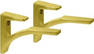 Brushed Brass Aluminum Shelf Brackets