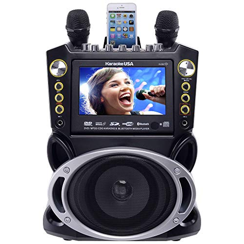 Karaoke USA Karaoke System - Portable, Black, 18.50