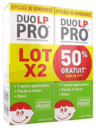 DUO LP-PRO Lotion Radicale Lentes et Poux Lot de 2 x 150 ml