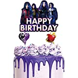 1 Cake Decorations for Descendants Cake Topper Birthday Party Supplies Cupcake Toppers