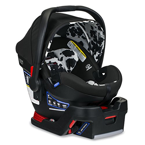 BRITAX B-Safe Ultra Infant Car Seat - Rear Facing | 4 to 35 Pounds - Reclinable Base, 2 Layer Impact Protection, Cowmooflage (E1C001Q)