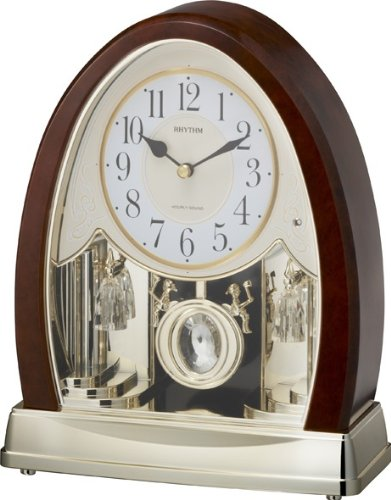 Rhythm Clocks 'Joyful Crystal Bells' Musical Motion Mantel Clock