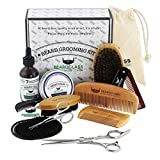 BEARDCLASS Beard Grooming Kit Set for Men (12 in...
