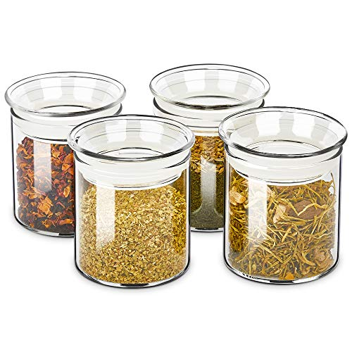 Airtight Kitchen Canisters Jars with Glass Lids
