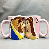 Lovers Cup Mermaid Princess Prince Taza De Porcelana La Bella Y La Bestia Taza De Cerámica Taza De Pareja Taza De Porcelana Gift-02_Suit