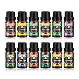 Innoo Tech Ätherische Öle Set 12 x 10 ml, reiner Lavendel, Eukalyptus, Zitrone, Zitronengras,...