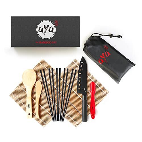 AYA Kit di Sushi bambù Kit con Coltello Sushi Chef - Video Tutorial Online - 2...