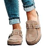 Scucs Zuecos casuales cómodos para mujer, sandalias de gamuza para verano, para casa, oficina, zapatos