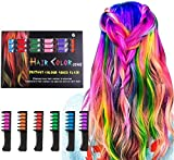 Hair Chalk Comb LAWOHO 6 Colors Temporary Hair Dye Marker Gifts for Girls Kids Adults for Halloween Christmas Birthday 8 9 10 11 12 year old girl gift Party, Cosplay