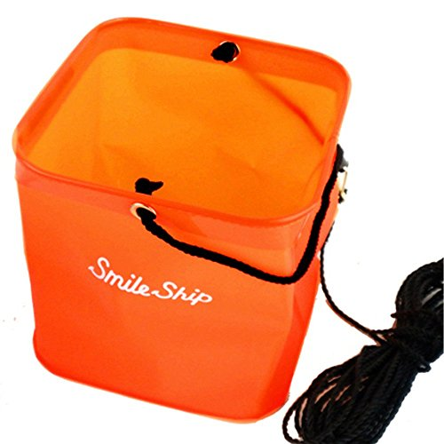 TAKAMIYA(タカミヤ) SmileShip 角型水汲バケツ 錘付 オレンジ 18cm
