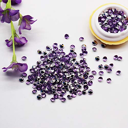 BIT.FLY 4.2mm 10000pcs Acrylic Crystal Diamond Vase Fillers for Table Scatter Wedding Event Party Decoration, Arts & Crafts DIY Ice Rock Treasure Gems - Lavender & Silver