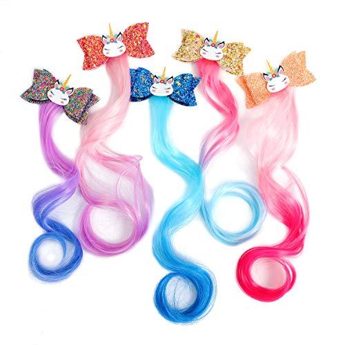 5-Colors Unicorn Hair Clips Hair Ac…