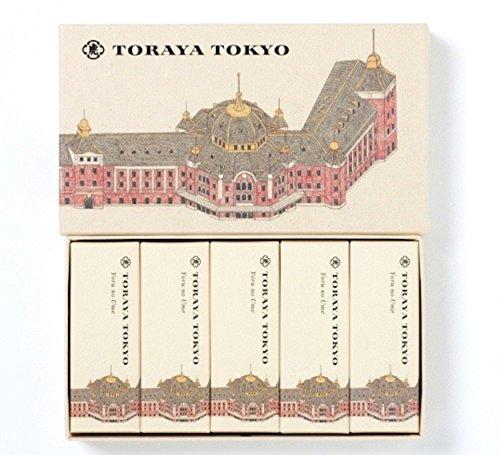 とらや 小形羊羹 「夜の梅」 5本入 TORAYA TOKYO 限定パッケージ 東京駅舎 ようかん 虎屋 とうきょう