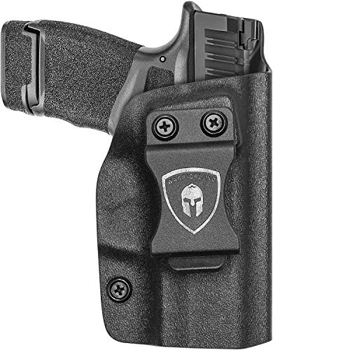 IWB KYDEX Holster Fit: Springfield Armory Hellcat Pistols, Inside Waistband Holster Concealed Carry for Men / Women, Hellcat Accessories 9mm Holster, Adj. Cant / Retention, Cover Mag Button, Right
