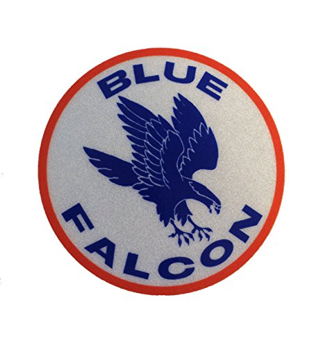 The Blue Falcon Decal 3' Round Vinyl 3m Us Made Sticker Military Decal