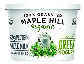 Maple Hill Creamery, 100% Grass Fed Organic Greek Yogurt, Plain, 16 oz