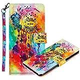 MRSTER Nokia 8.1 Handytasche, Leder Schutzhülle Brieftasche Hülle Flip Hülle 3D Muster Cover mit Kartenfach Magnet Tasche Handyhüllen für Nokia 8.1 2018. LL 3D Flower Campanula
