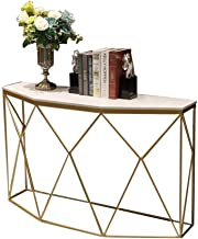 Console Table,Marble Entrance Cabinet Side Table Display Table for Living Room Hotel Corridor 34 × 11 × 28 Inch (Color : W...