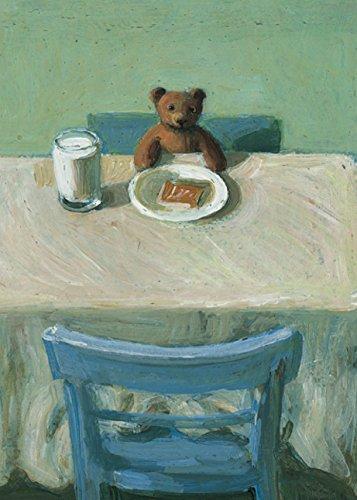 Postkarte A6 • 5308 ''Teddy bei Tisch'' von Inkognito • Künstler: Michael Sowa • Satire • Kinder/Märchen