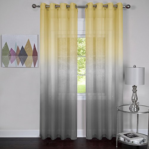 Achim Home Furnishings RBPN84GY12 , Grey Rainbow Single Grommet Window Curtain Panel, 52' x 84'