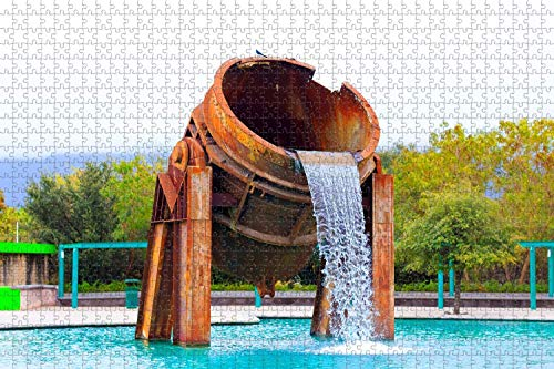 1000 piezas-México Connaught Library Monterrey Rompecabezas para adultos Regalo de viaje de madera Recuerdo