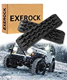 Exerock Black 2pcs New Recovery Traction Mats Tool Tracks Sand Mud Snow Track Tire Ladder
