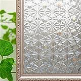 HYSJLS Película de vidrio esmerilado con diamante mágico sin pegamento, lámina adhesiva de privacidad para ventana decorativa para el hogar, baño, 45 x 200 cm