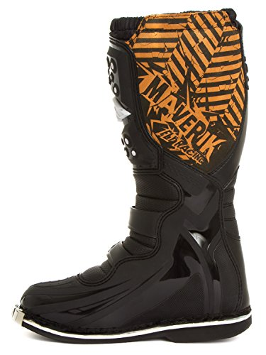 Fly Racing Motocross-Stiefel Maverik Schwarz Gr. 46 - 6