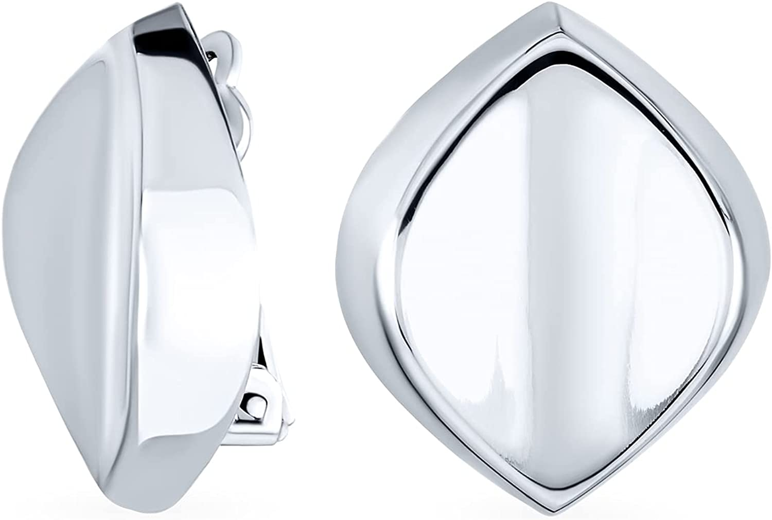 Minimalist Oval Clearance SALE! Limited time! Polished Concave Clip On Sale Special Price Women For Earrings Non