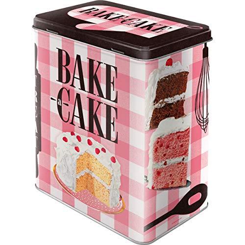 Nostalgic-Art 30142, Home & Country, Bake A Cake, Vorratsdose L, Metall, 10 x 14 x 20 cm