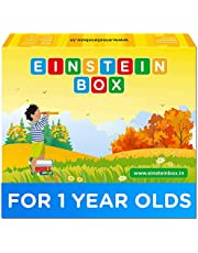Einstein Box for 1 Year Old Boys/Girls   Gift Toys & Board Books for Kids   Learning and Educational Toys & Games   Pretend Play Set of Animal Masks  Pack of 1 Box Set