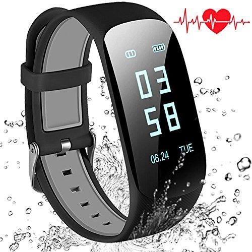 AbandFit Pulsera Actividad, Pulsera Inteligente Impermeable Fitness Tracker con Pulsómetros/Contador de Calorias/Monitor de Sueño/Contador de Pasos/Reloj para Android iOS