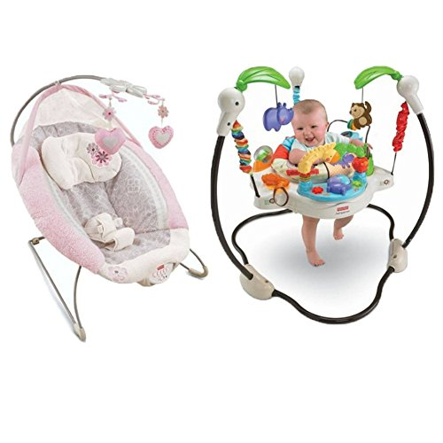 Ap Exit 9 My Little Sweetie Deluxe Bouncer comes with Luv U Zoo Jumperoo