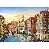 HUADADA Puzzle da 1000 pezzi, puzzle per adulti, impossible puzzle, gioco di abilità colorato, gioco di abilità per tutta la famiglia, puzzle per adulti, paesaggio Venezia