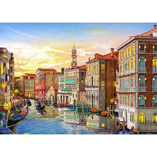 HUADADA Puzzle 1000 Teile,Puzzle für Erwachsene, Impossible Puzzle,Puzzle farbenfrohes Legespiel ,Geschicklichkeitsspiel für die ganze Familie,Erwachsenenpuzzle,Venedig Landschaft