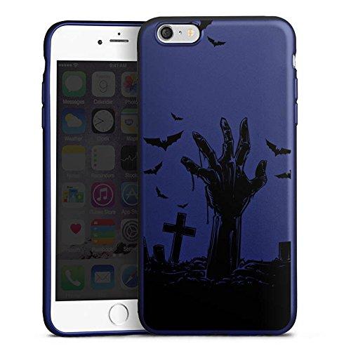 DeinDesign Apple iPhone 6 Plus Silikon Hülle Blau Case Schutzhülle Zombie Halloween ohne Hintergrund