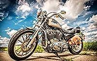 QMGLBG 5Dダイヤモンドペインティング ヴィンテージオートバイレースダイヤモンド絵画刺繡クリスタルアート壁装飾工芸品ホリデーギフト30*40cm