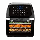 Digital Air Fryer 12L Air Oven Low Fat Healthy Cooker 1800W Oil Free with Rotisserie for Baking Roasting...
