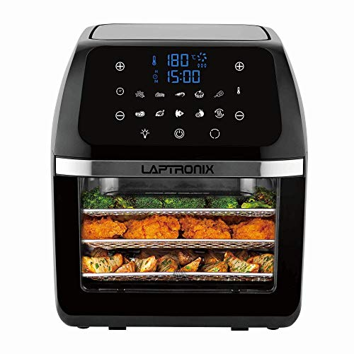 Digital Air Fryer 12L Air Oven Low Fat Healthy Cooker 1800W Oil Free with Rotisserie for Baking...