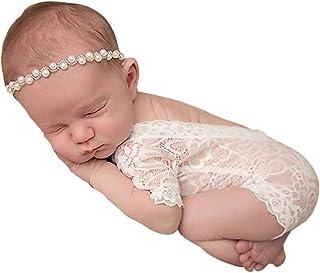 Ropa Bebe Niña Verano 2020 SHOBDW Mono Bebé Suave Monos De Encaje Unisex Mamelucos Body Infantil para Bebés Niños Pequeños Bebés Fotografía Prop Ropa Bebé Niña Recién Nacida