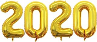 GOER 42 Inch 2020 Gold Foil Number Balloons for 2020 New Year Eve Festival Party Supplies Graduation Decorations